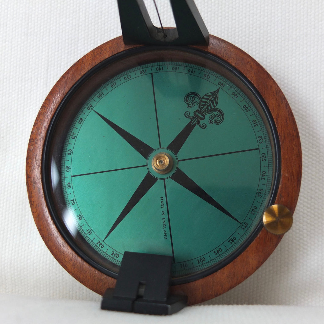 Francis Barker Wooden Educational Compass