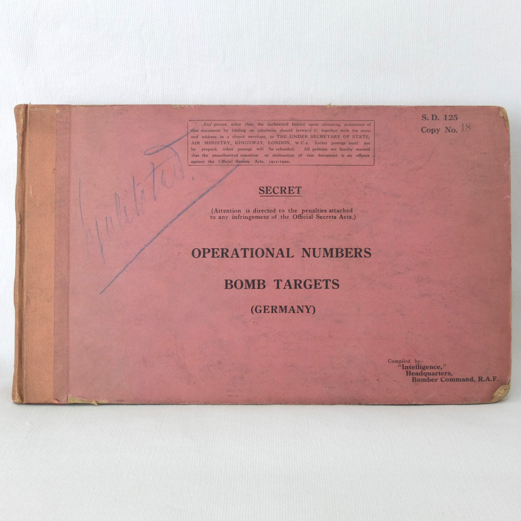 WW2 Secret RAF Bomber Command Manual (1939) | Bomb Targets