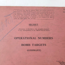 Secret RAF Bomber Command Targets Manual (1939)
