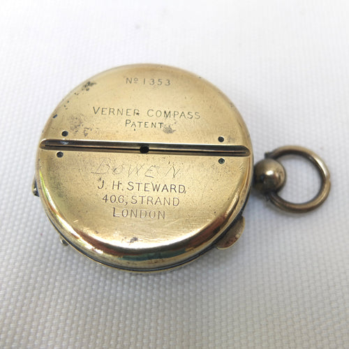 J. H. Steward, London, Verners Patent compass, c.1895