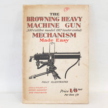 WW2 Browning Heavy Machine Gun Manual c.1942