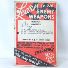 Learn to Use Enemy Weapons (1943) | 21st Army Group