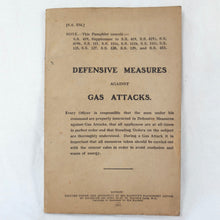 Defensive Measures Against Gas Attacks (1917) | WW1 War Office Manual