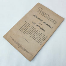 WW1 Gas Attacks Manual (1917)