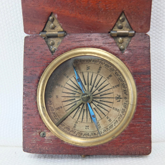 Georgian Mahogany Pocket Compass c.1830