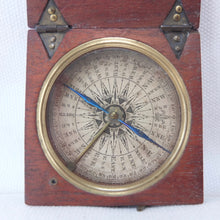 Georgian Wooden Pocket Compass c.1820
