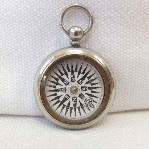 Georgian Nickel-Silver Pocket Compass c.1830 | Compass library