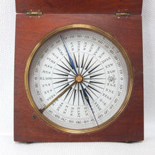 Francis Barker Wooden Pocket Compass c.1850