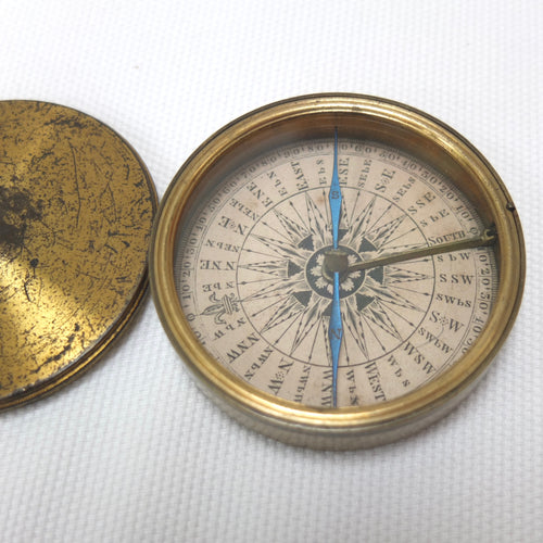 Georgian Brass Pocket Compass c.1830 | Compass Library