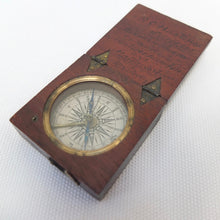 Antique Georgian Wooden Cased Railway Compass c.1830 | Compass Library