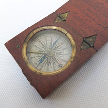 Georgian Wooden Pocket Compass c.1830