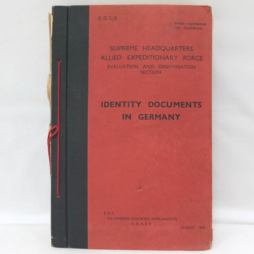 Identity Documents in Germany (S.H.A.E. F. 1944)
