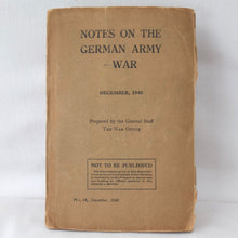 Notes on the German Army - War (1940) | Compass Library