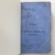 WW1 Notes on German Shells (1918) | Compass Library