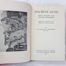 Machine Guns (1938) | Lt-Col G. S. Hutchinson DSO, MC