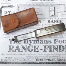 Hymans Pocket Range finder (1915) | Charles Hymans, Cambridge