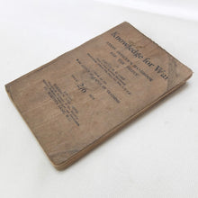 WW1 Officer's Trench Warfare Handbook