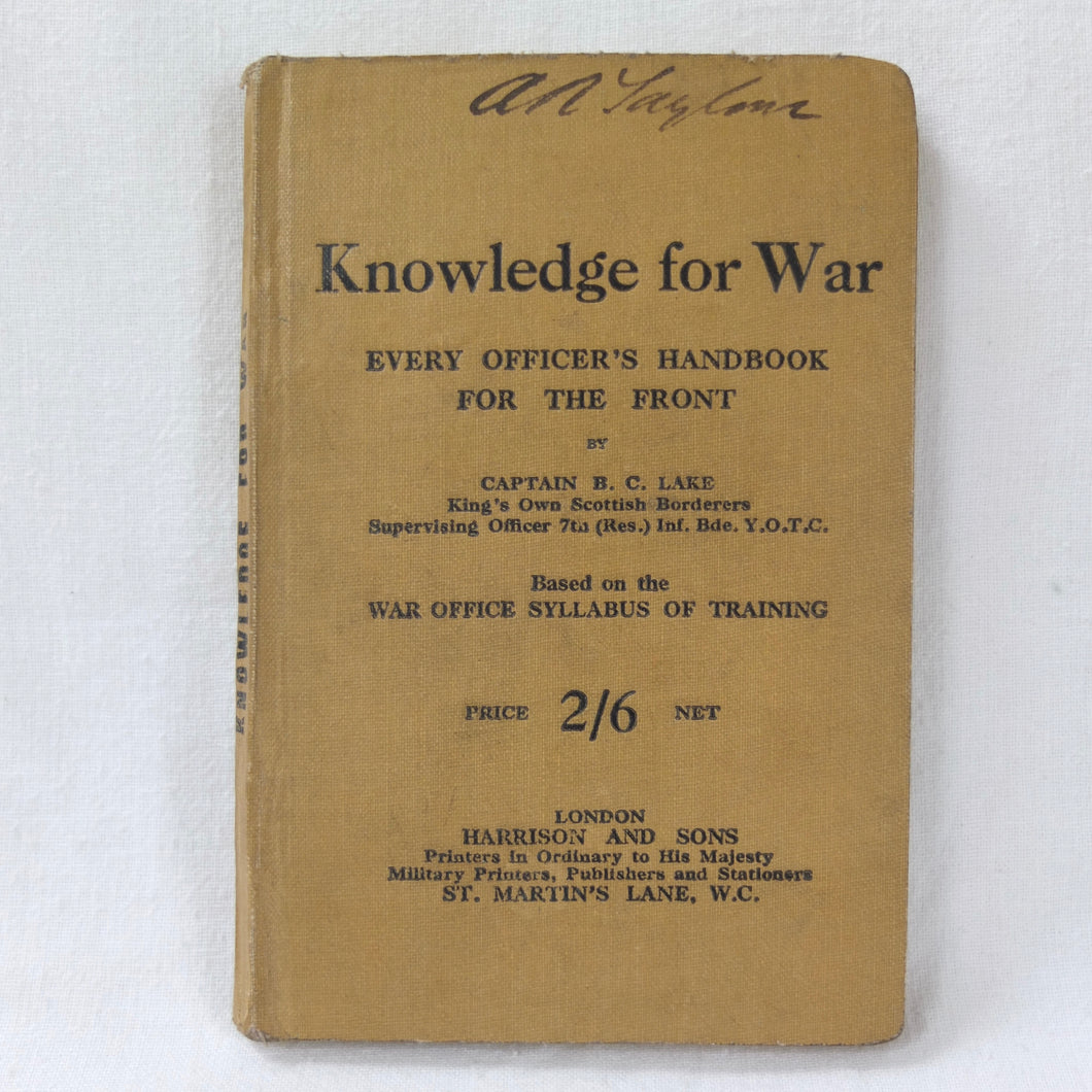 WW1 Trench Warfare Manual (1916) | Knowledge for War