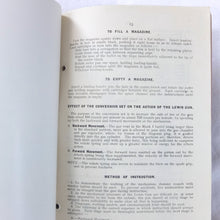 Handbook on the Lewis Gun (1919)