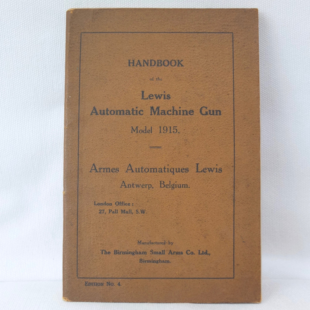 BSA Lewis Automatic Machine Gun Handbook (1915)