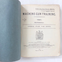 Vickers Machine Gun Training Manual (1921)