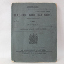 Machine Gun Training (1921) | Vickers .303 Machine Gun