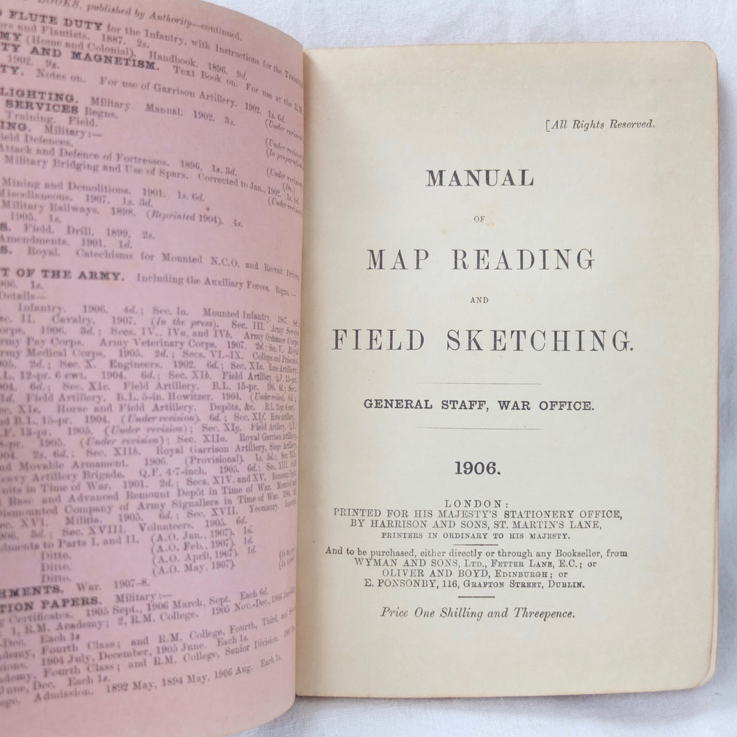 Map Reading and Field Sketching (1906) | 1/4th East Lancashire Regiment