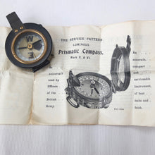 WW1 Verner's Marching Compass | Instructions