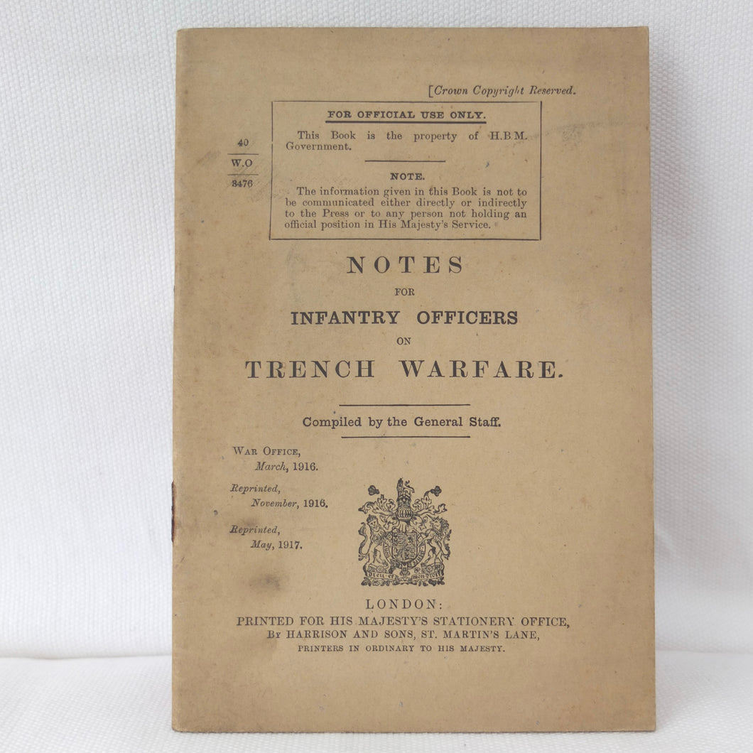 WW1 Notes on Trench Warfare (1917) | Compass Library