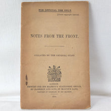 Notes from the Front (1914) | WW1 Army Manual