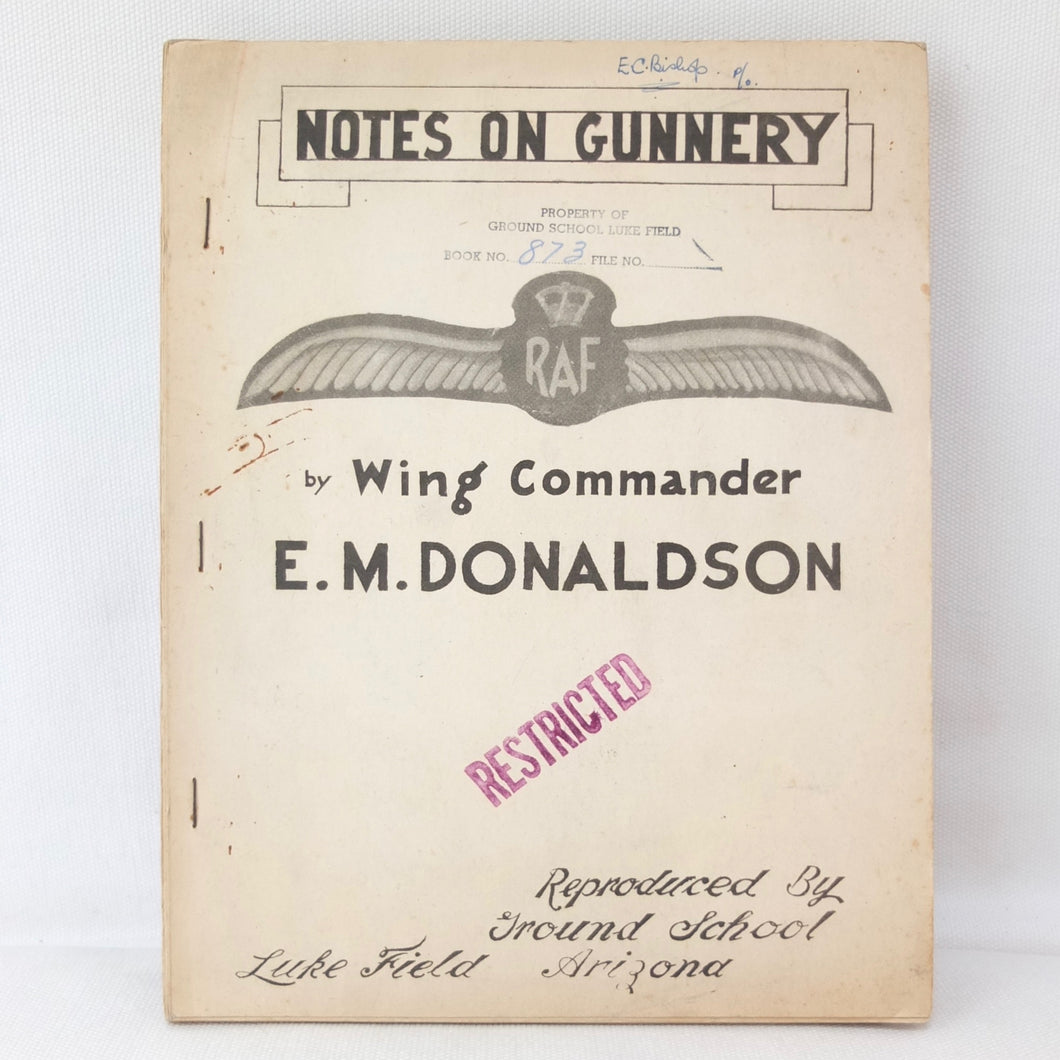 Notes on Gunnery (1942) | W/Cdr