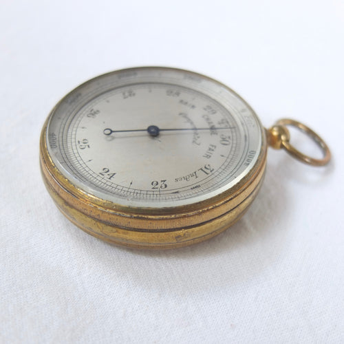 Victorian Pocket Altimeter Barometer | Compass Library