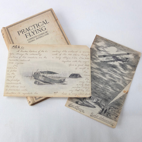 WW1 RAF Practical Flying Manual 1918 | Pilot Drawings