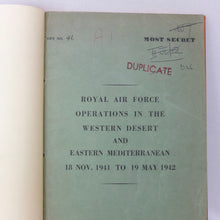 WW2 RAF Secret Western Desert Intelligence Report (1942)