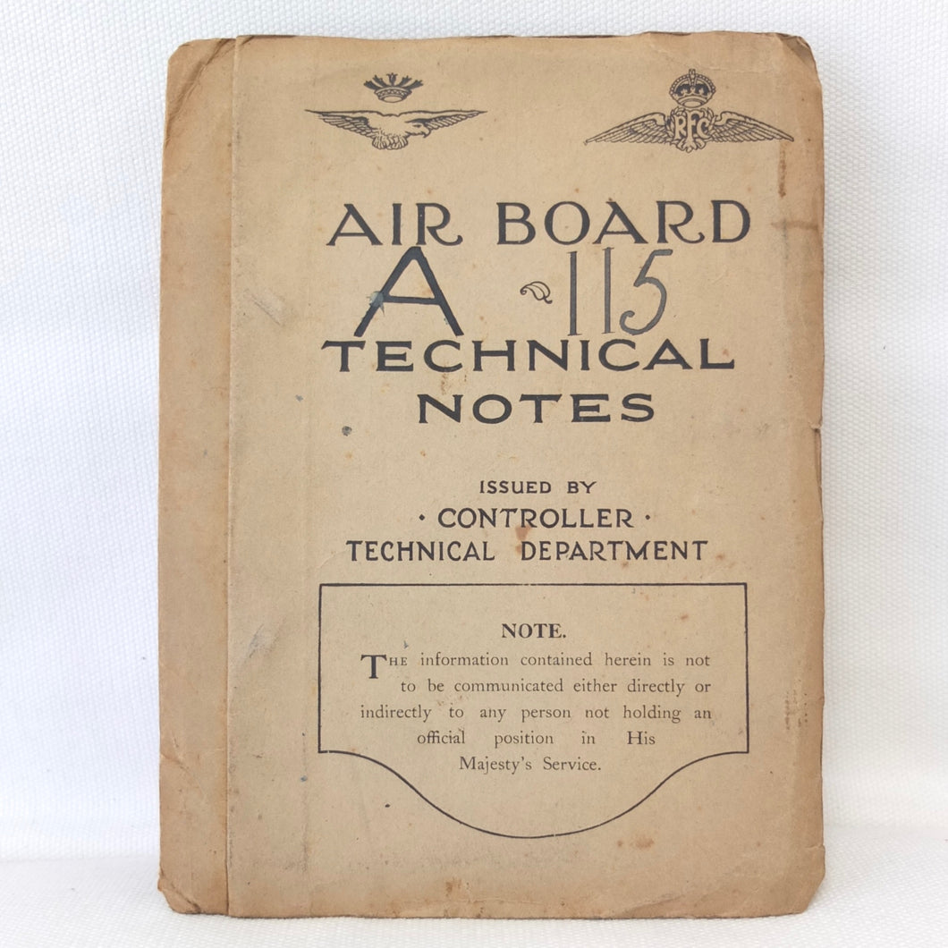 RFC Air Board Technical Notes (1917)
