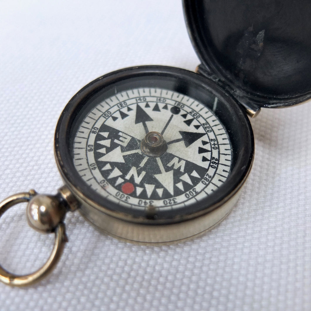 Antique Francis Barker 'RGS' Pocket Compass c.1900