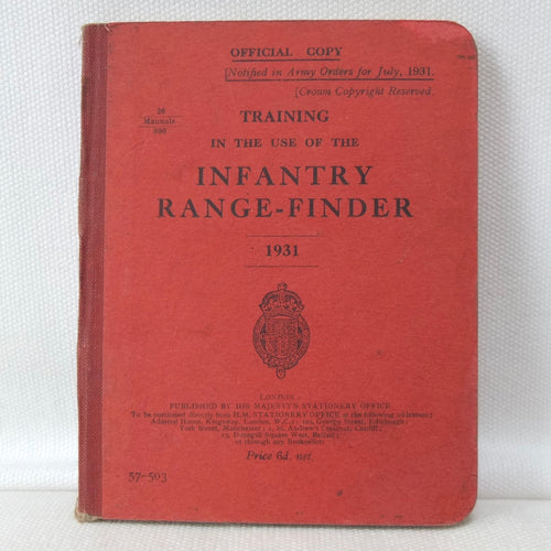 Infantry Range-Finder manual (1931) | War office