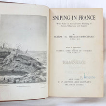 WW1 Sniping in France | Hesketh-Prichard