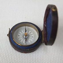 Victorian Pocket Leather Cased Compass 1870