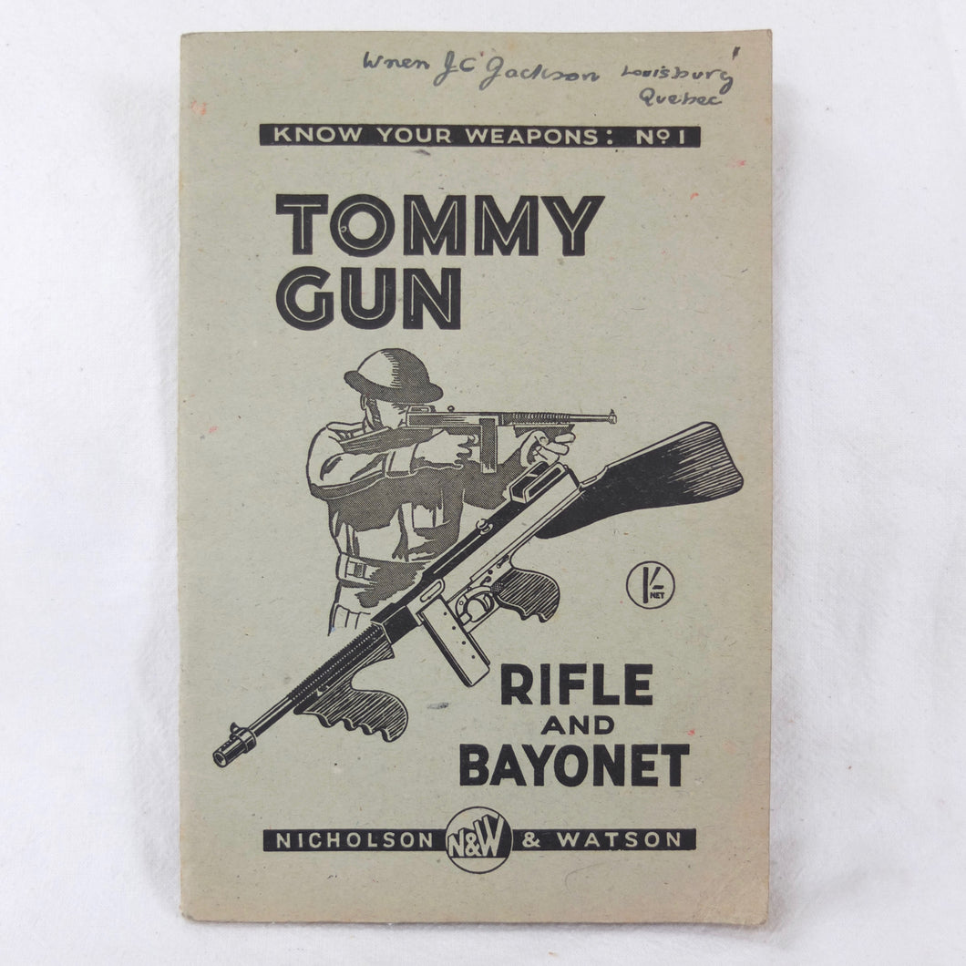 WW2 Thompson Submachine Gun Manual | Compass Library