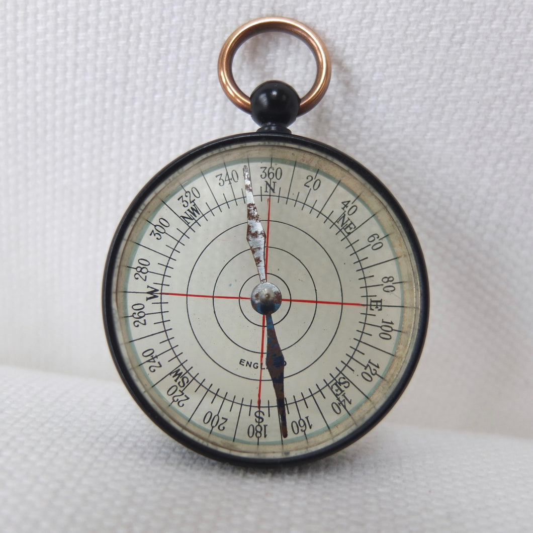 Antique Transparent Pocket Compass | Made in England