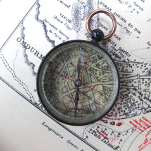 Antique Antique English Pocket Compass | Transparent map compass