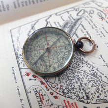 Transparent Pocket Compass | on map