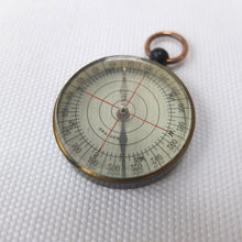 Antique English Pocket Compass | Transparent map compass