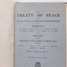 The Treaty of Peace | Versailles 1919 | Compass Library