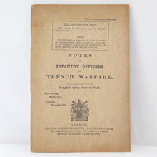WW1 Notes For Infantry Officers on Trench Warfare (1916)