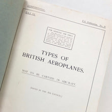 Royal Air Force British Aeroplanes (1918)