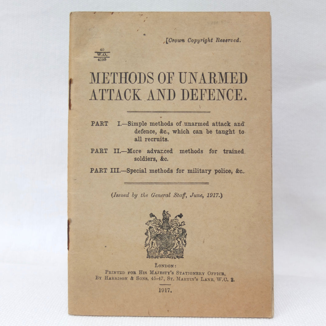 WW1 1917 Unarmed Combat Manual | Compass Library