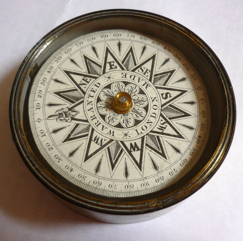 Antique Pocket Compass 'Warranted London Made'