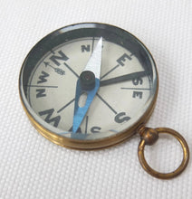 Antique Brass Cased Pocket Compass c.1900